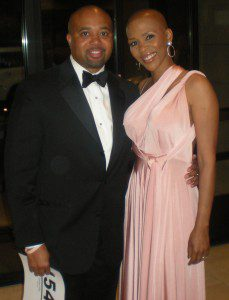 Breast cancer survivor, formal event wear