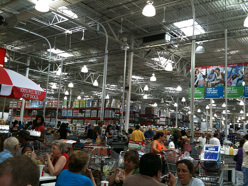 Costco checkout line