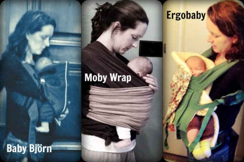 ergo, moby, bjorn, baby carriers compared