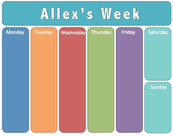 Weekly Calendar For Toddlers : Kids weekly calendar template gallery design ideas