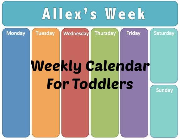 make a weekly calender