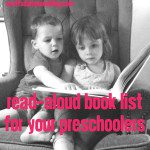Read Aloud Book List for Preschoolers