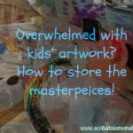 How to store all the kids' artwork { while throwing it all away! }