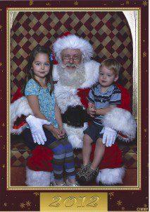PV Mall Santa and kids