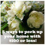 5 ways to perk up your home with $100 or less!