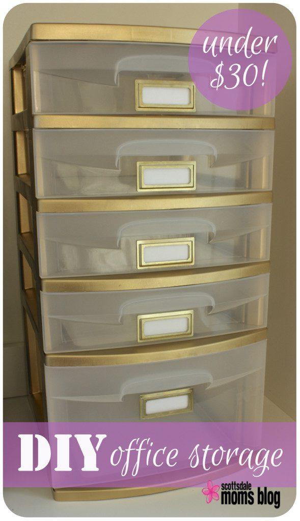 DIY office storage organization 2