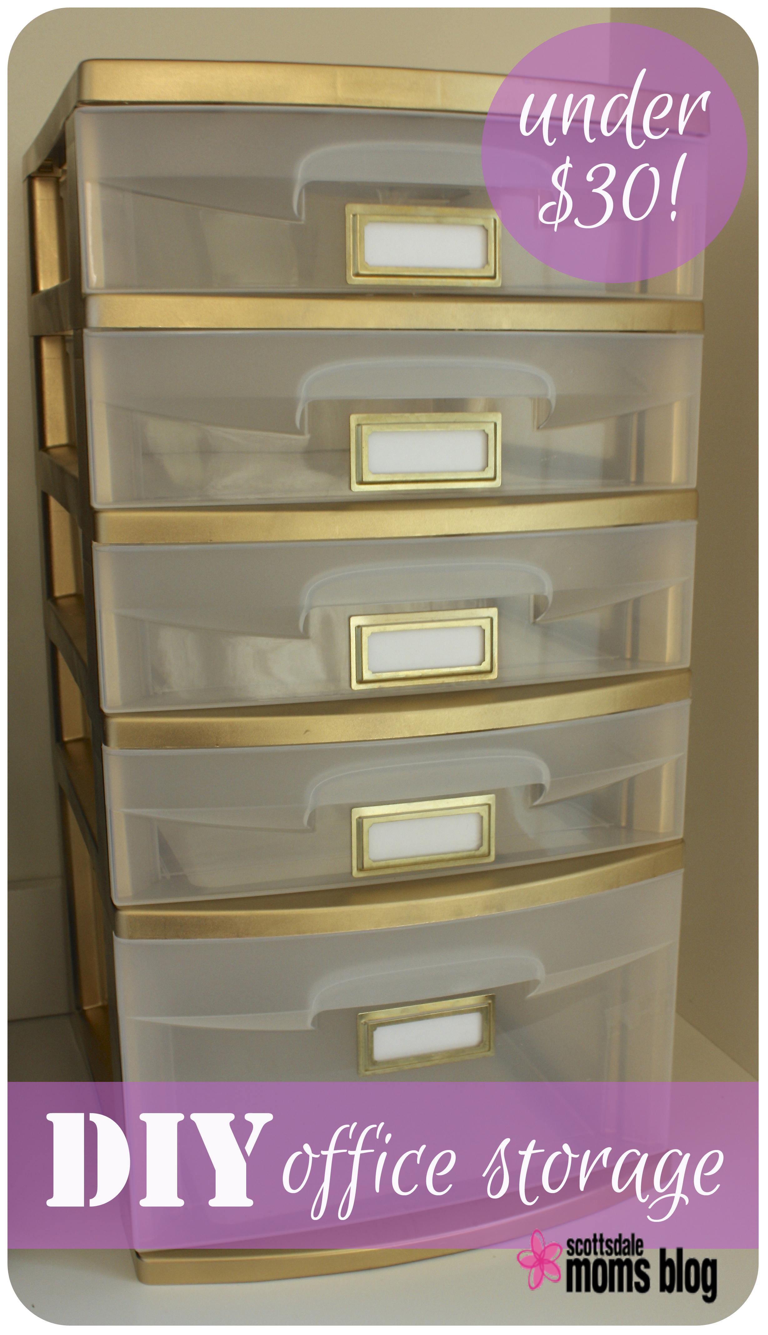 Craft storage drawers plastic - Diy Office Storage Organization 2