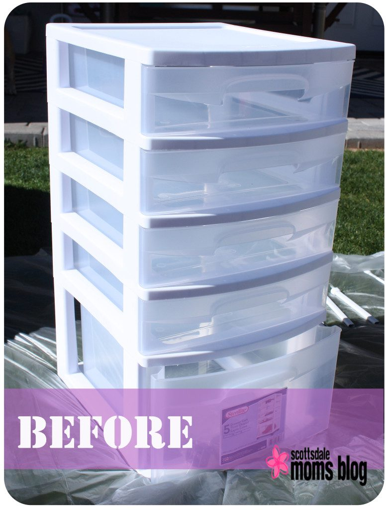 DIY office storage organization before 2