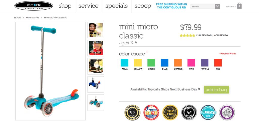 Micro Mini Classic Colors