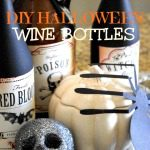 DIY Halloween Decorations, using your empty wine bottles {Halloween Week}