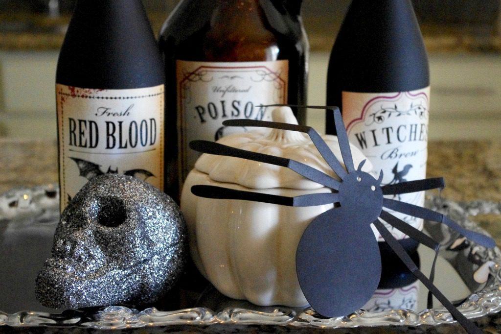after halloween wine bottles 2