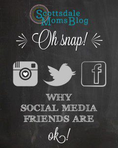 Why social media friends are ok graphic