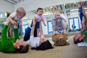 babies class flying in air web