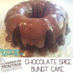 American Heritage Chocolate Spice Bundt Cake {Sponsored Post}