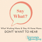 Say What? What Working Moms and Stay At Home Moms Don't Want to Hear