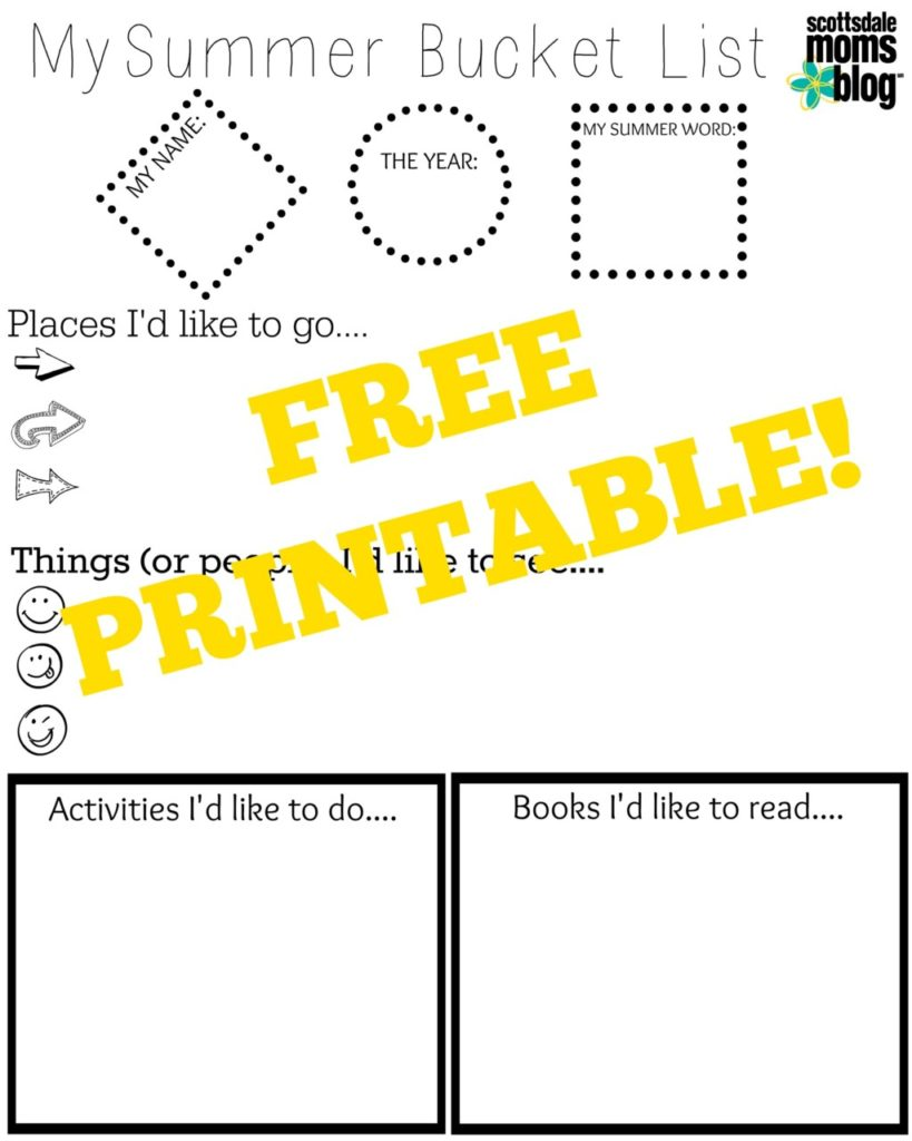 photo relating to Bucket Printable named Build a Summertime Bucket Record Cost-free Printable