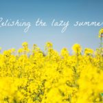 A Lesson in Relishing the Lazy Summer
