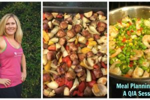meal planning collage