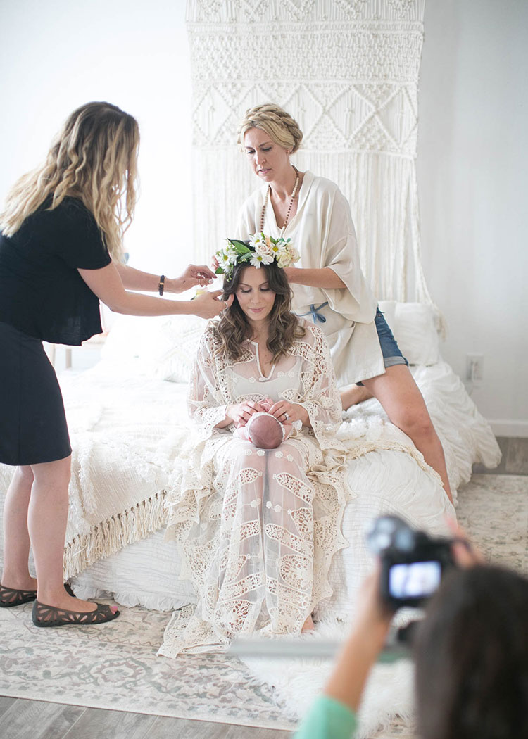 behind the scenes with mother + child co. sessions. now booking for fall!
