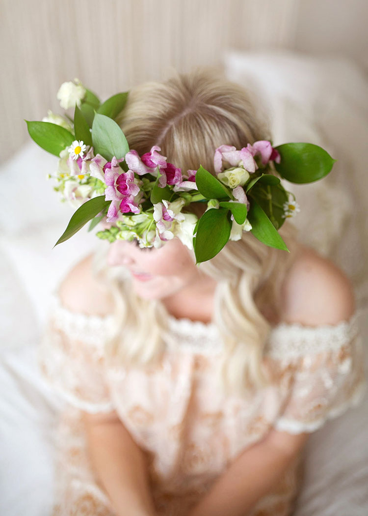all mother + child co sessions come with a custom flower crown for mom