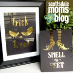 Haunted Halloween, a Chic DIY Gold Foil Project