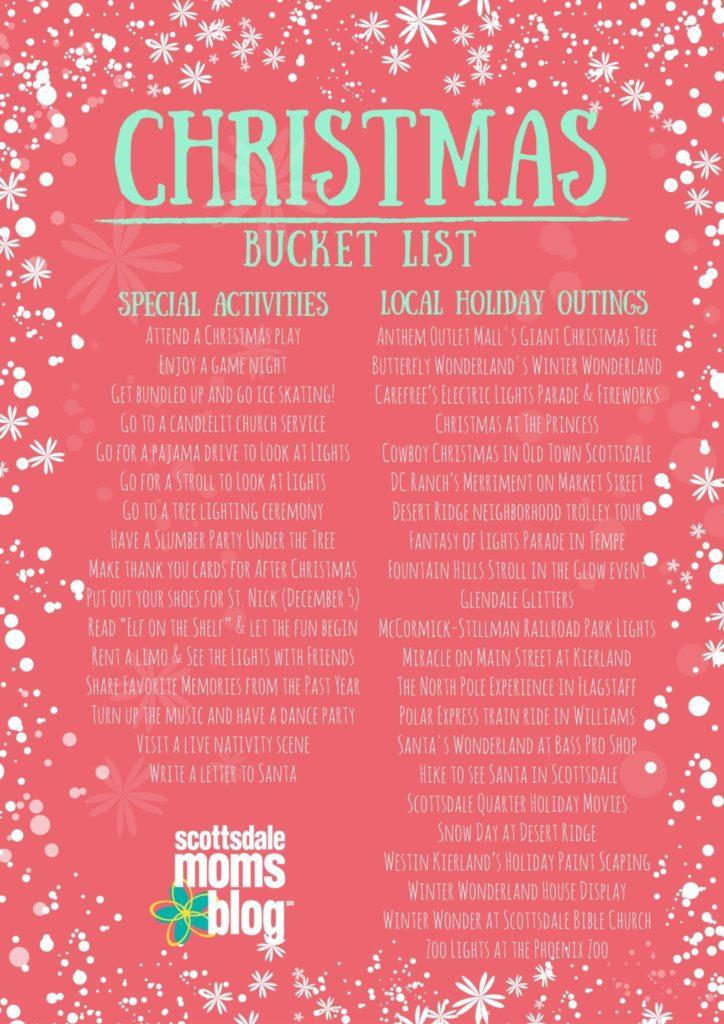 Christmas Bucket List - Local