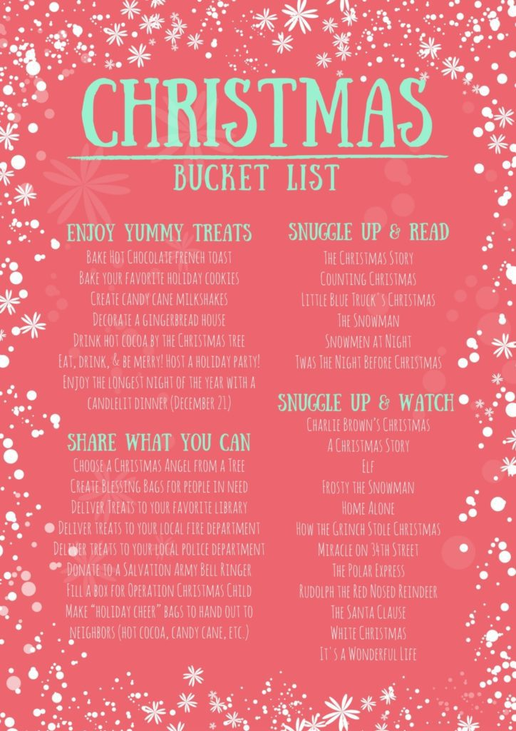 Christmas Bucket List - Ideas
