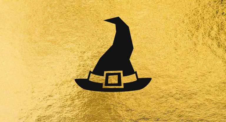 Chic DIY Gold Foil Halloween Project