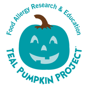 The TEAL PUMPKIN PROJECT® and the Teal Pumpkin Project® logo are registered trademarks of Food Allergy Research & Education (FARE).