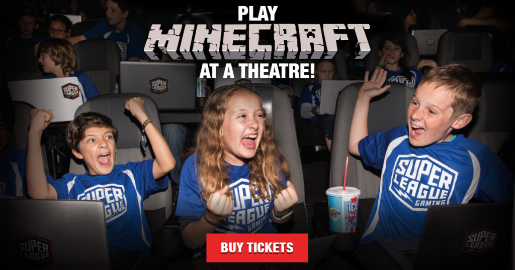 minecraft on the big screen