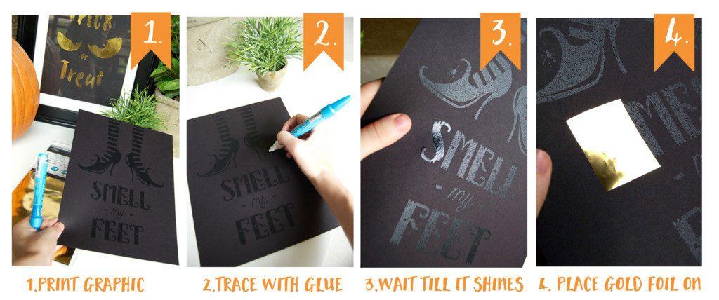 gold-foil-black-paper-step-1