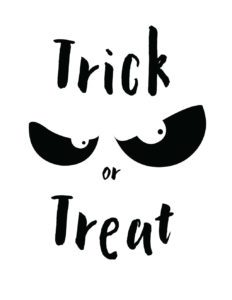 trick or treat white
