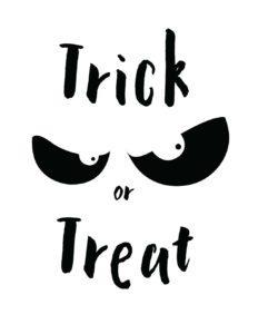 trick or treat white