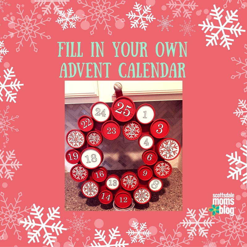 fill in your own advent calendar