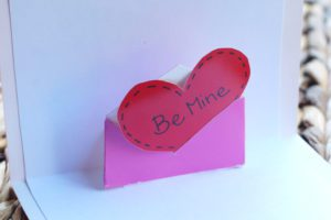 heart card envelope
