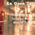 An Open Letter: To the Mom of the Good Kid, from the Mom of THAT kid
