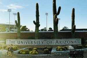 U of A sign with cacti