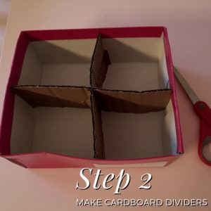 Make Cardboard Dividers