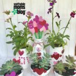 Upcycled DIY Planters for Valentine's Day