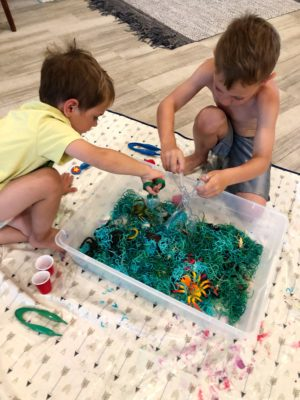summer sensory bins