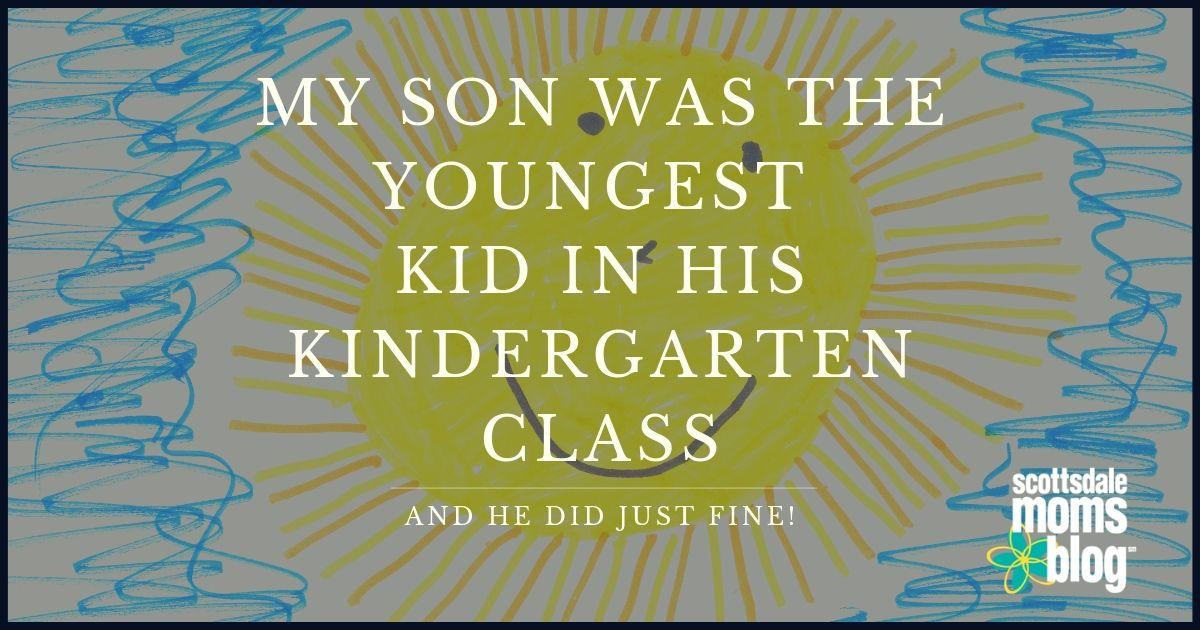 youngest in his kindergarten class