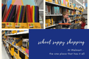 school suppy shopping