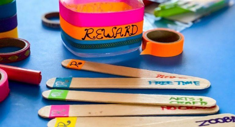 How to Make a DIY Reward Jar + a Chore Jar for Kids