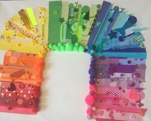 rainbow collage test run