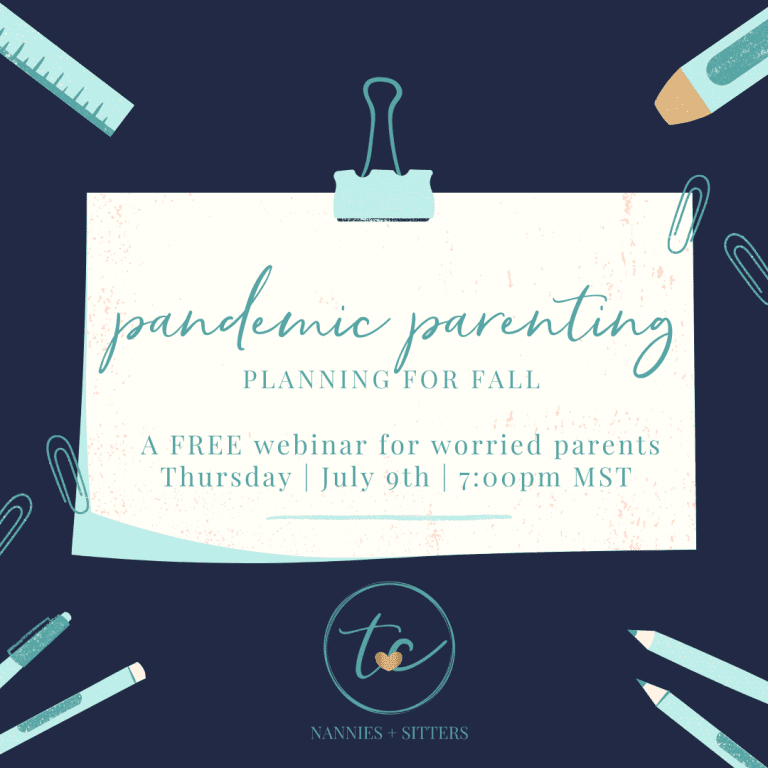 Pandemic Parenting-Planning for Fall {A Free Webinar for Worried Parents}