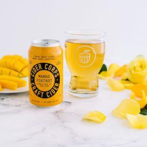 Cider Corps_Mango Foxtrot Can-Glass